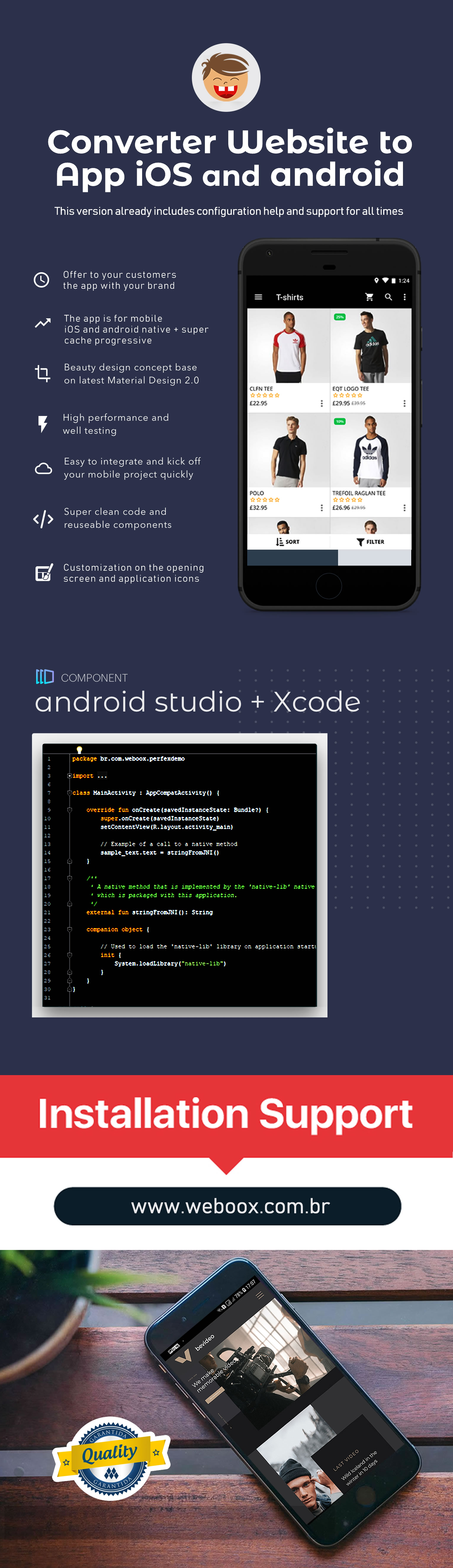 Weboox Convert - Website to iOS and Android App Native PRO - 3