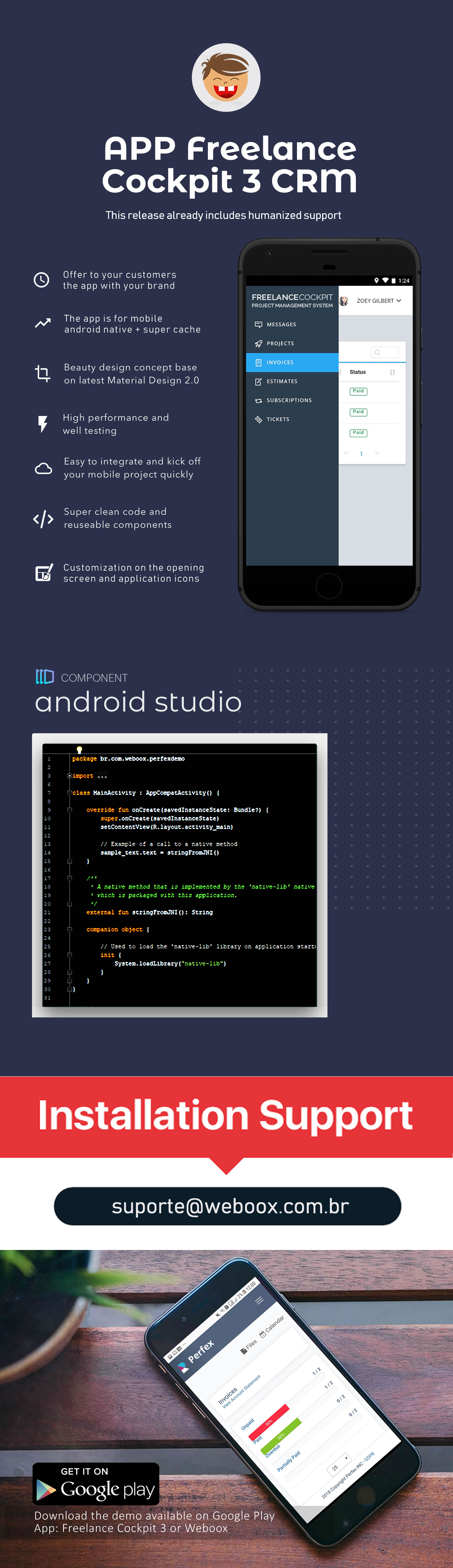 Weboox Convert - Freelance Cockpit 3 to app Android - 3
